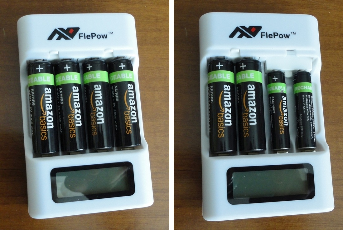 FlePow AA and AAA Rechargeable Battery Fast Charger