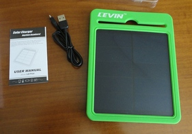 Levin High-Efficiency IPX4 Waterproof Solar Charger with 3000 mAh Battery Pack