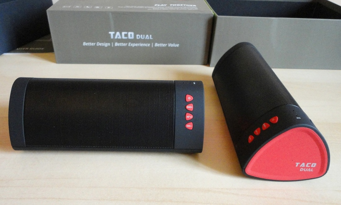 iDea USA Taco Dual Bluetooth Speakers