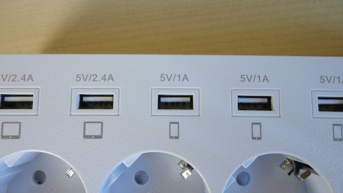 MHtech Surge-protected Power Bar with USB Charging Ports