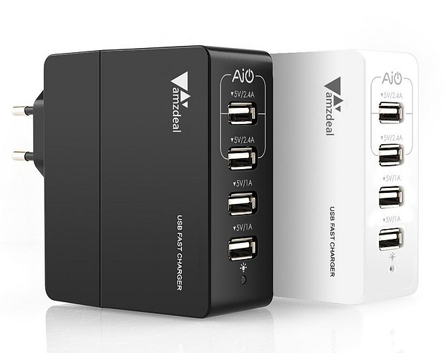 Amzdeal 4-port USB Fast Charger