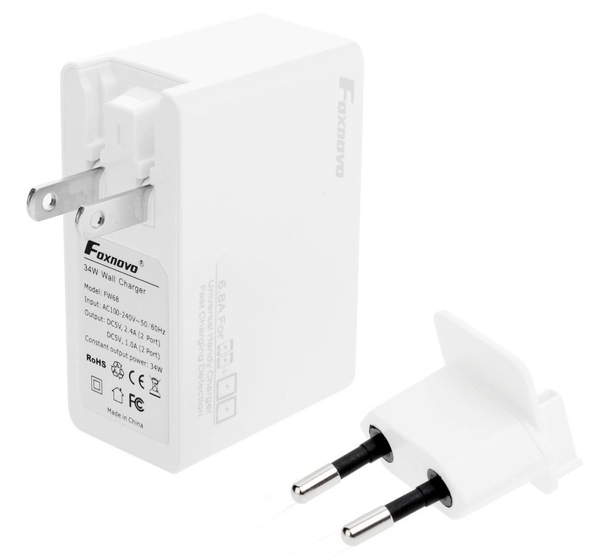 Foxnovo 34W USB Fast Charger/Travel Adapter