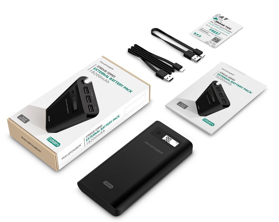 RAVPower Xtreme 18200mAh Power Bank