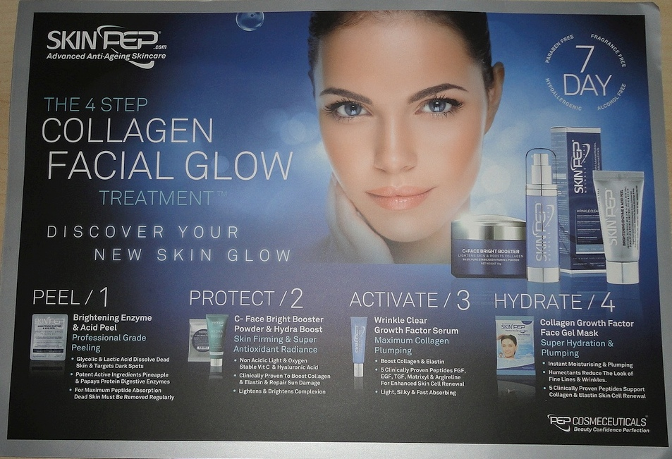 SkinPep 4-Step Collagen Facial Glow