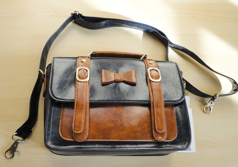 Ecosusi Two-Tone Vintage Ladies Handbag