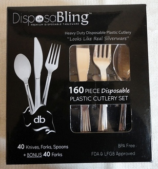 DisposaBling plastic cutlery